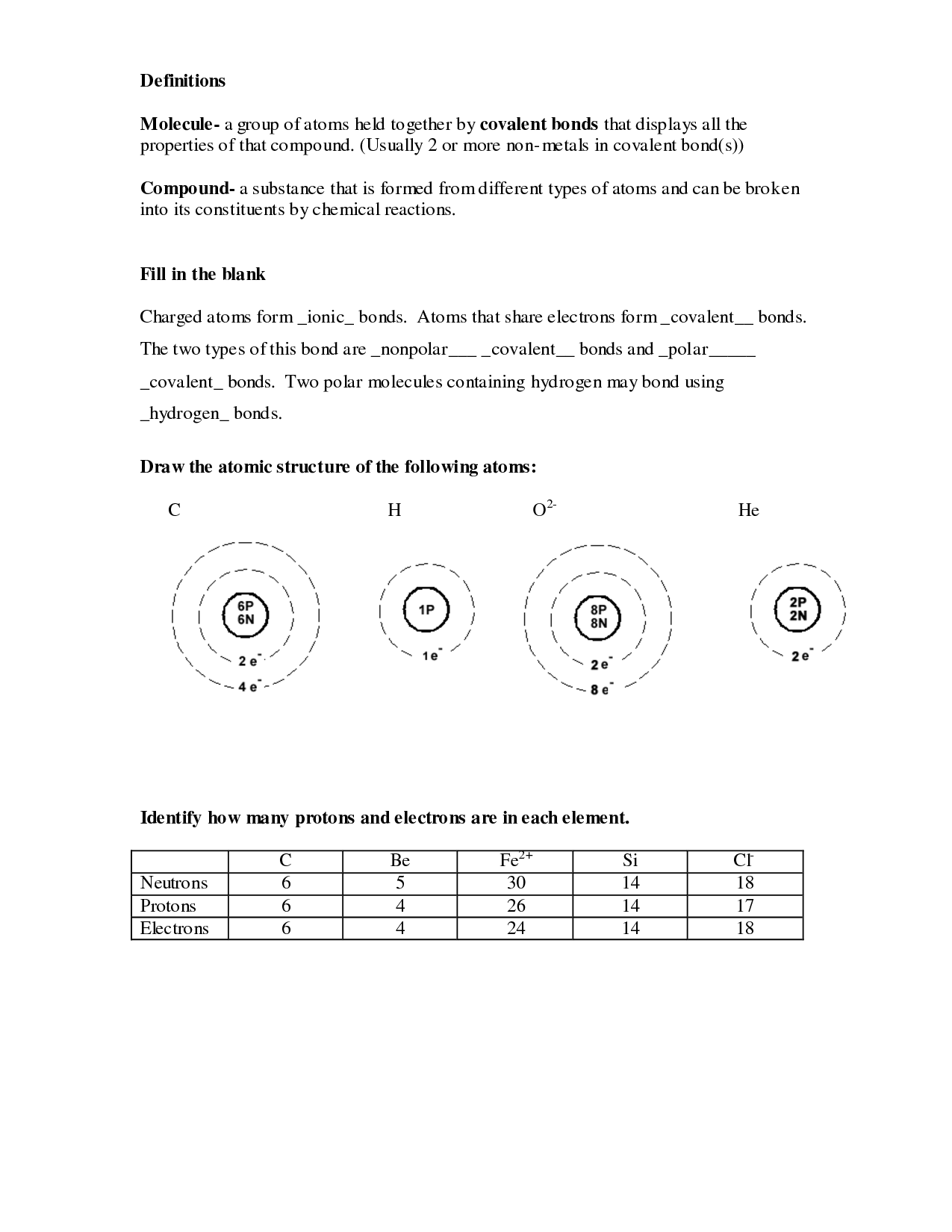 12 Best Images Of Chemistry Atomic Structure Worksheet