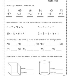 2nd Grade Morning Work Worksheets   Printable Worksheets and Activities for  Teachers [ 1600 x 1236 Pixel ]
