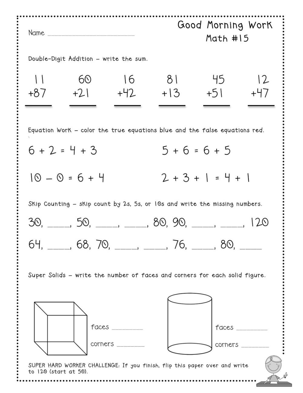 medium resolution of 2nd Grade Morning Work Worksheets   Printable Worksheets and Activities for  Teachers
