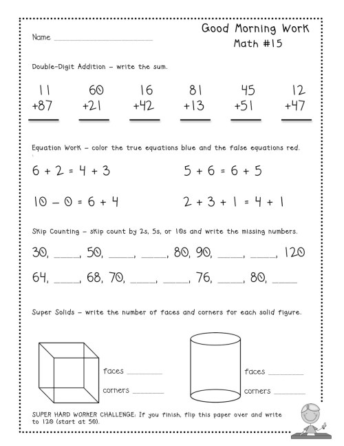 small resolution of 2nd Grade Morning Work Worksheets   Printable Worksheets and Activities for  Teachers