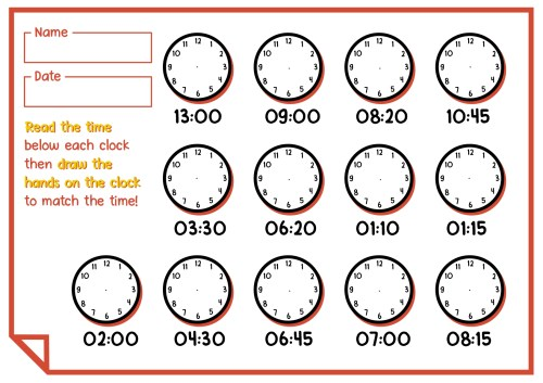 small resolution of 1st Grade Time Worksheets   Printable Worksheets and Activities for  Teachers