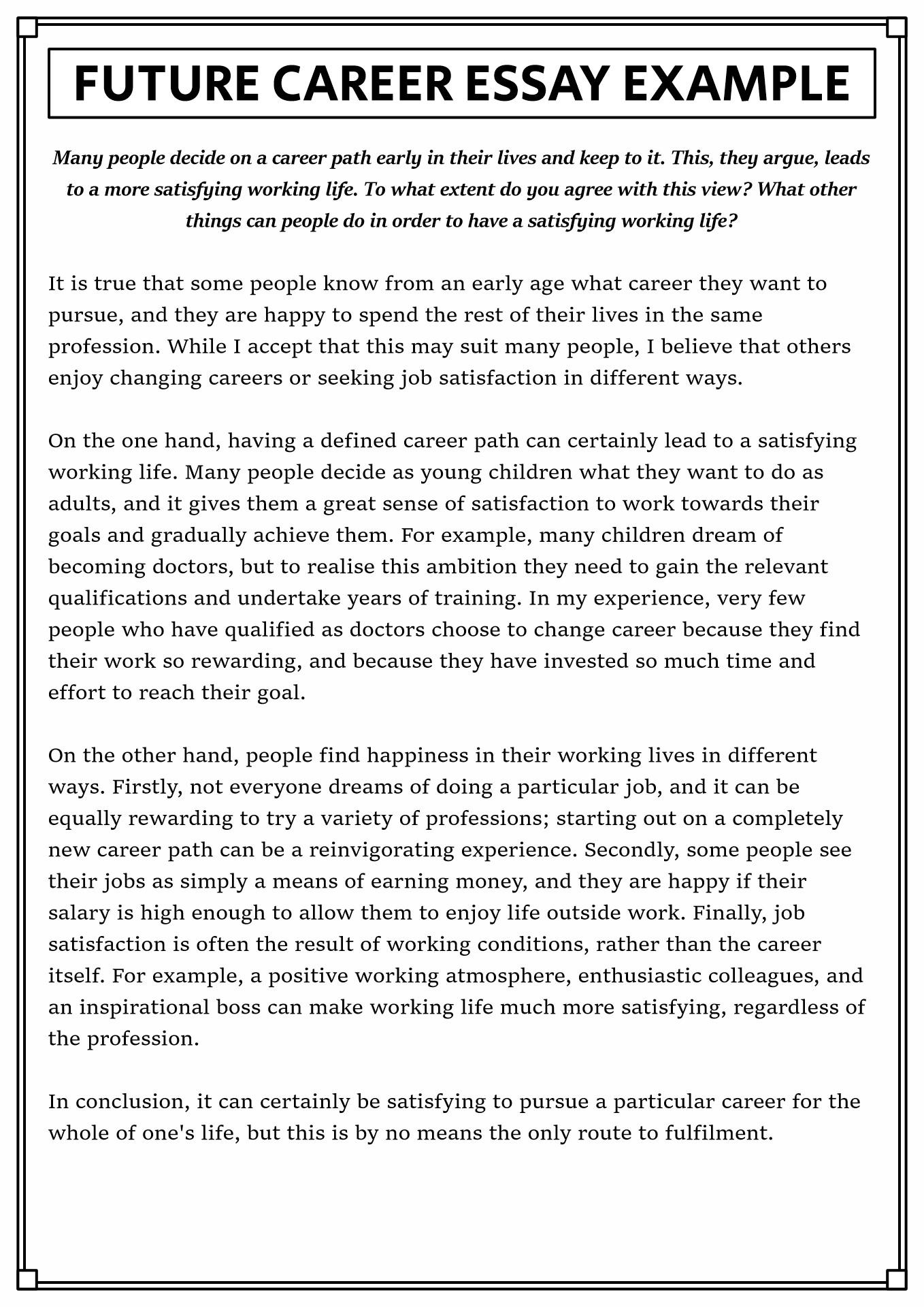 my career plan after graduation essays