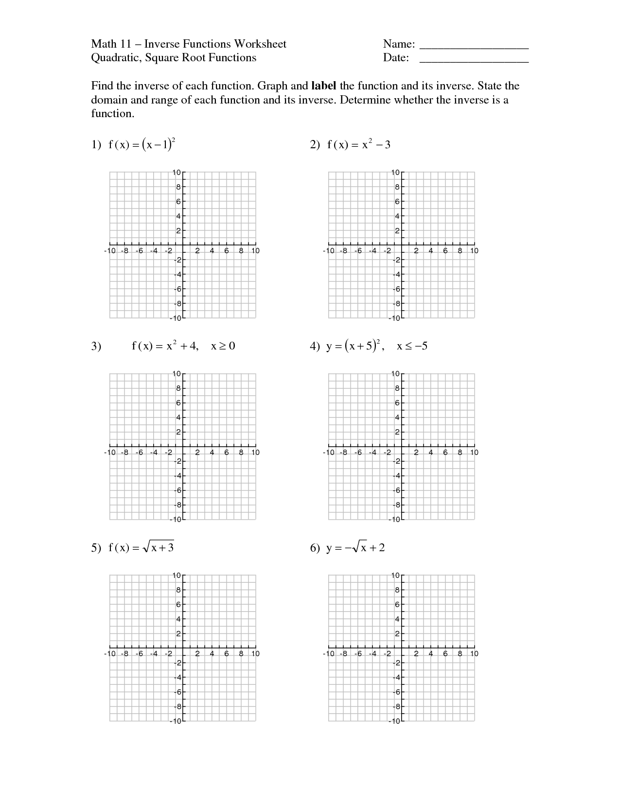 Graphs Of Polynomial Functions Worksheet