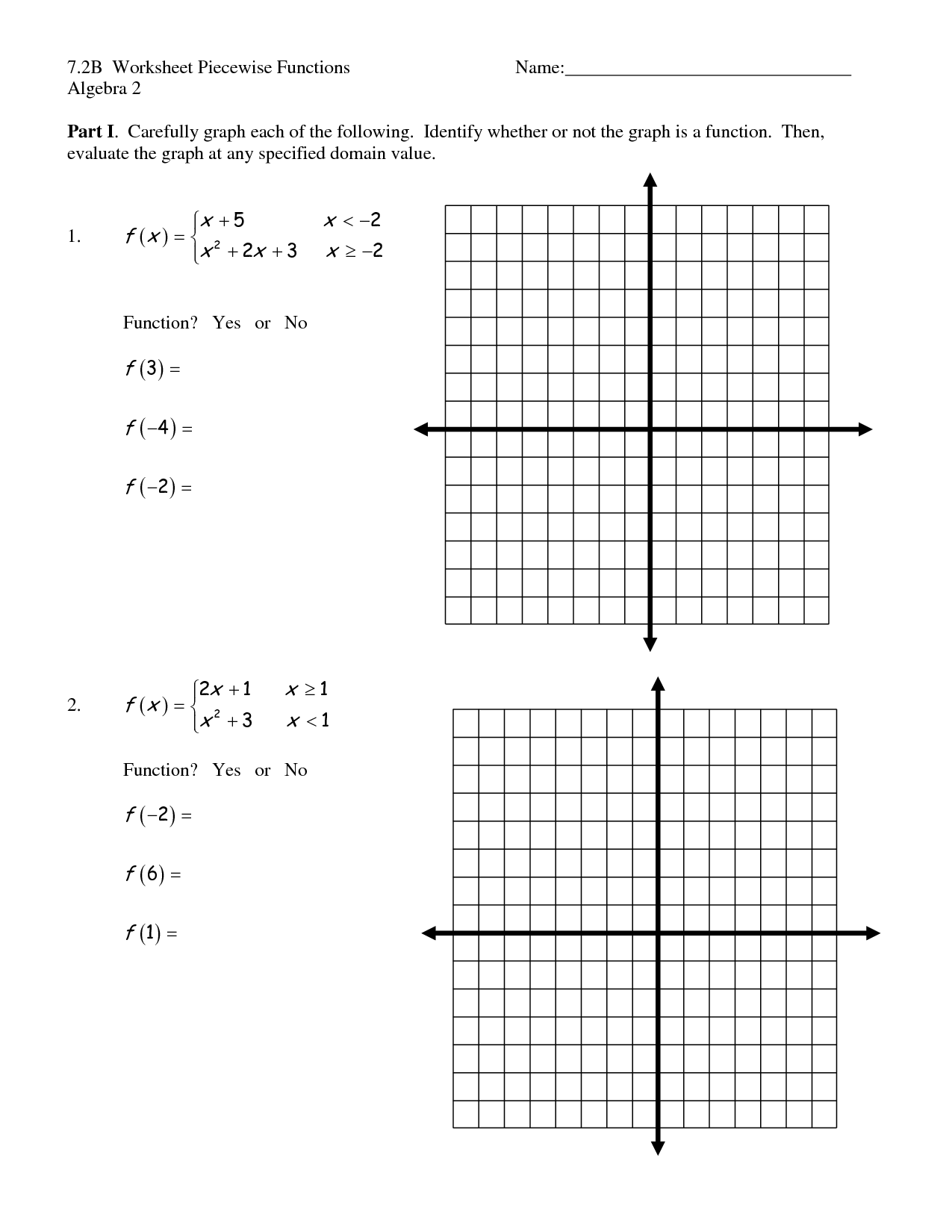 Beautiful 17 Best Images Of Graph Functions Worksheets ...