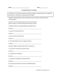 14 Best Images of Making Inferences Worksheets 7th Grade ...