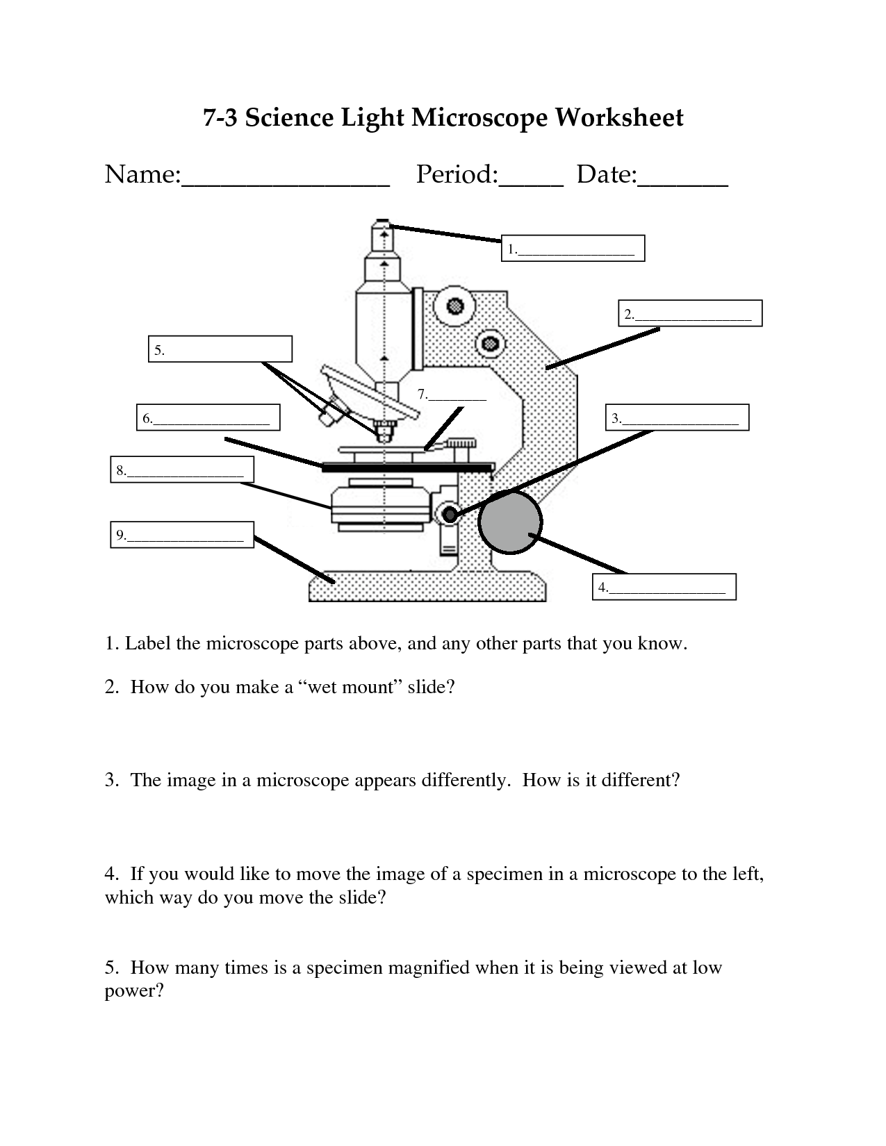 microscope diagram unlabeled how to do a spider on powerpoint of light label get free image