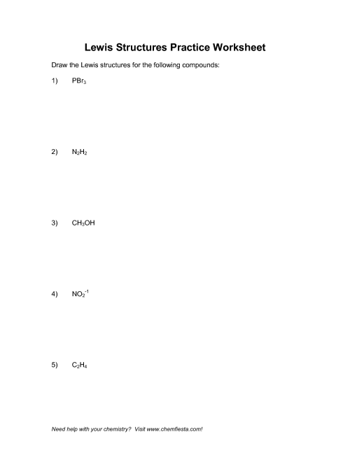 small resolution of lewis dot structure practice worksheet