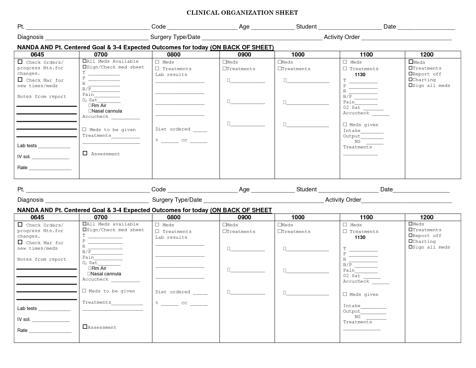 Nursing Care Management Assessment Worksheet