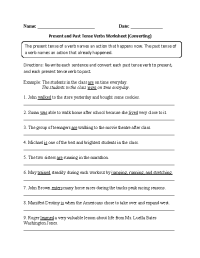 11 Best Images of Present Tense Verbs Worksheets 3rd Grade ...