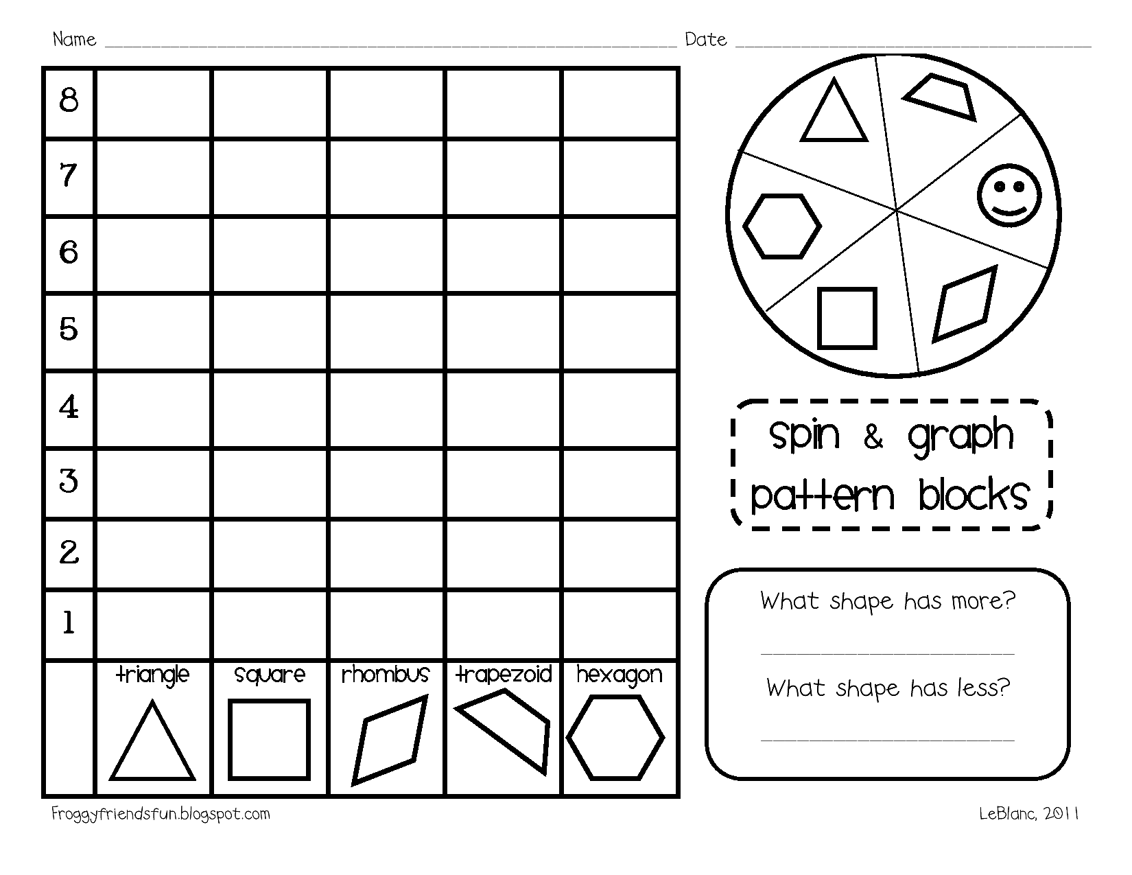 15 Best Images Of Pattern Blocks Activities Worksheets