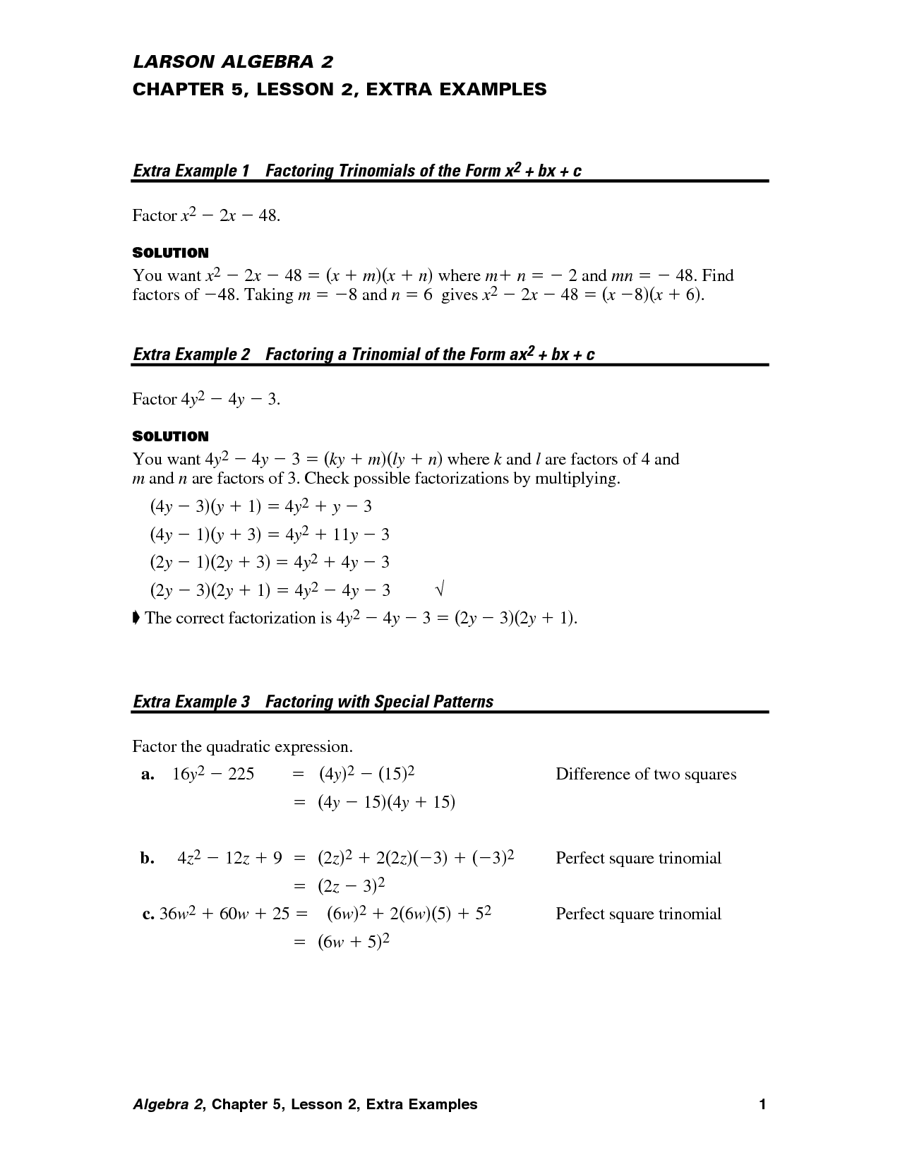 Algebra 1 Prentice Hall Lesson 3 Answers Pursued A