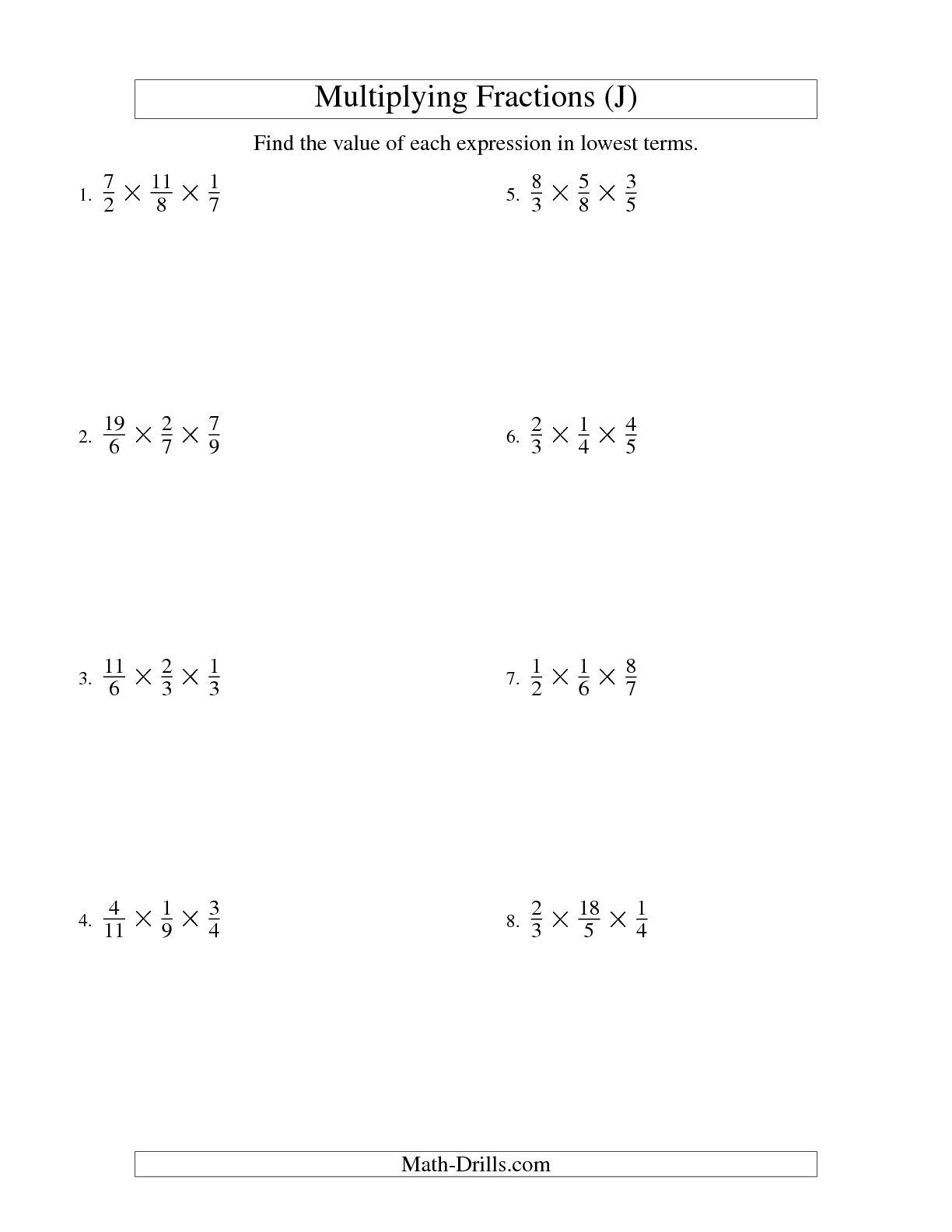 7 Best Images Of Multiplying Improper Fractions Worksheet