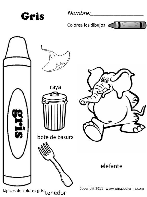 Los Colores En Espanol Worksheet Sketch Coloring Page
