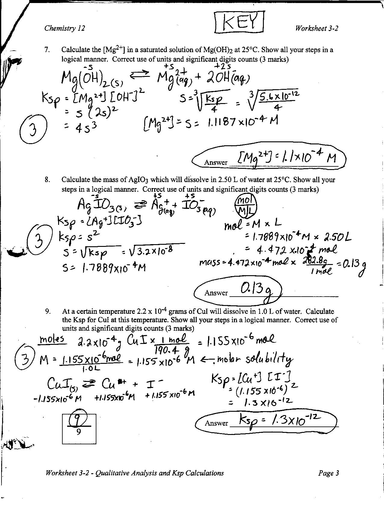 10 Best Images Of Chemistry Answer Worksheet 3 1