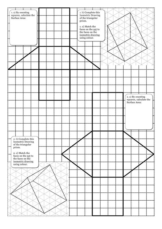 10 Best Images of Triangular Prism Surface Area Worksheet