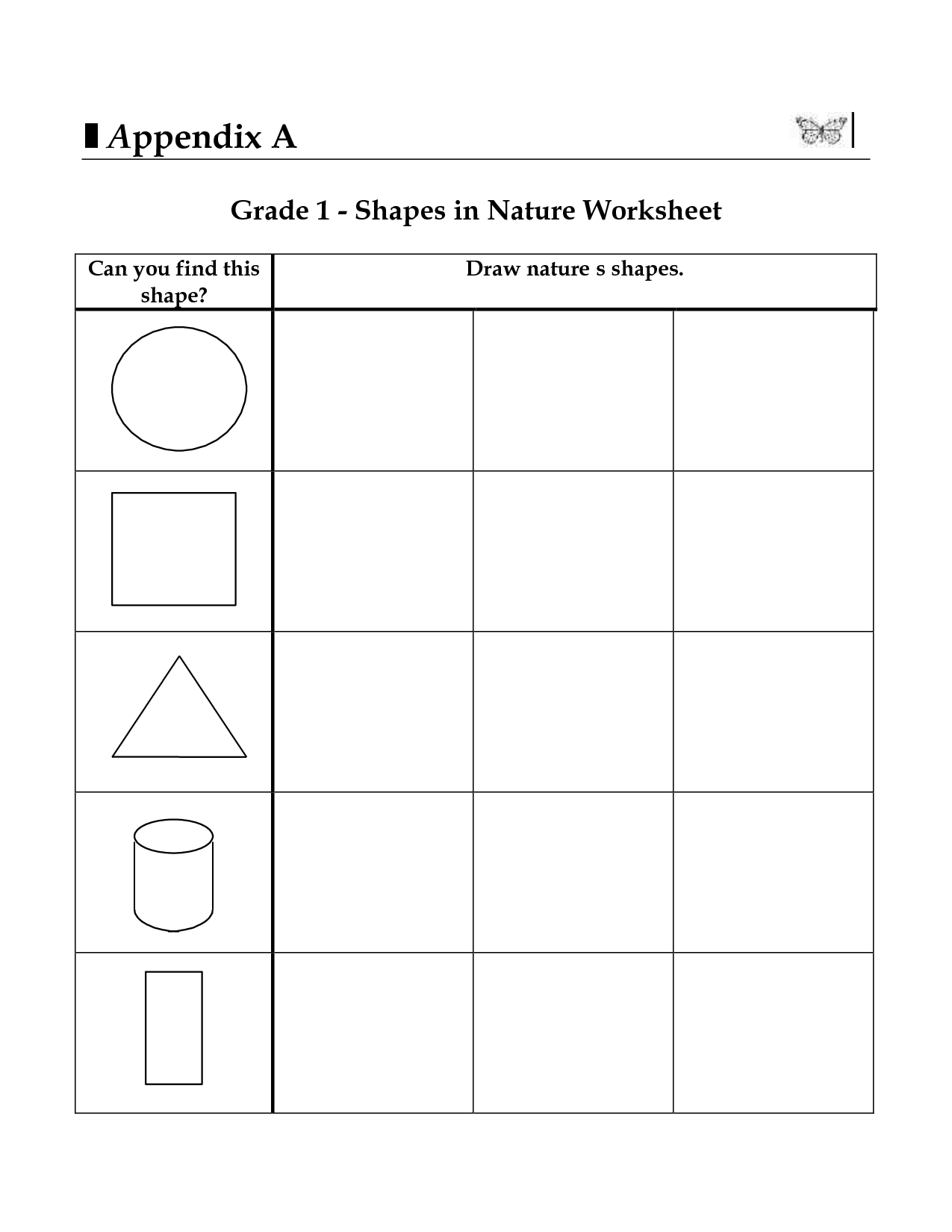 2d Shapes Worksheets For 3rd Grade