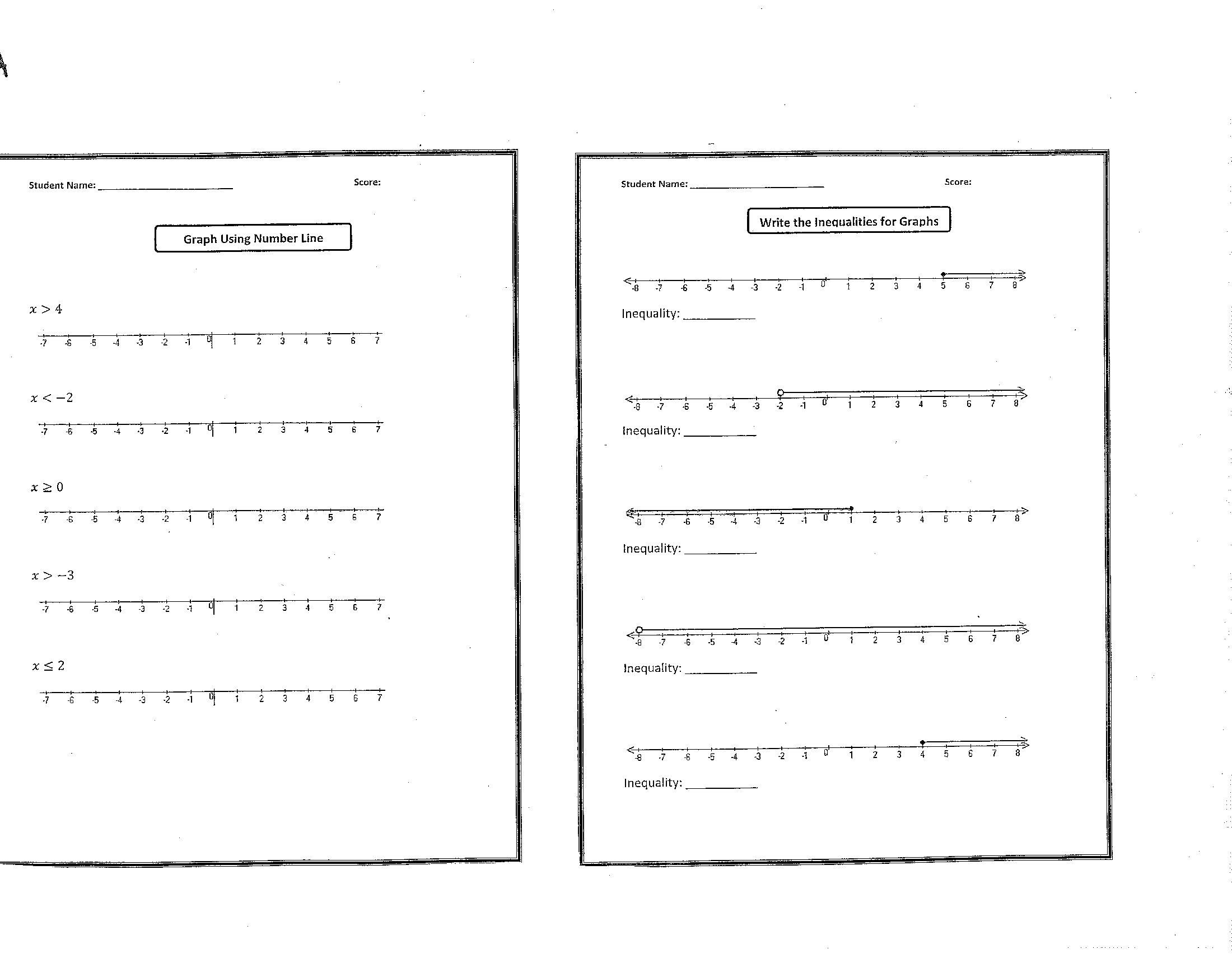 Solving Inequalities Worksheet 6th Grade