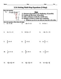 11 Best Images of Two-step Equations Math Worksheets ...