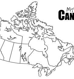 Blank Map Of Canada Worksheet   Printable Worksheets and Activities for  Teachers [ 1320 x 2040 Pixel ]