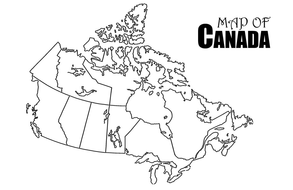 medium resolution of Blank Map Of Canada Worksheet   Printable Worksheets and Activities for  Teachers