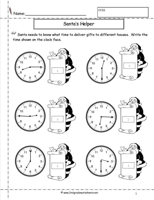 small resolution of Telling Time To Hour Worksheets Grade 2   Printable Worksheets and  Activities for Teachers