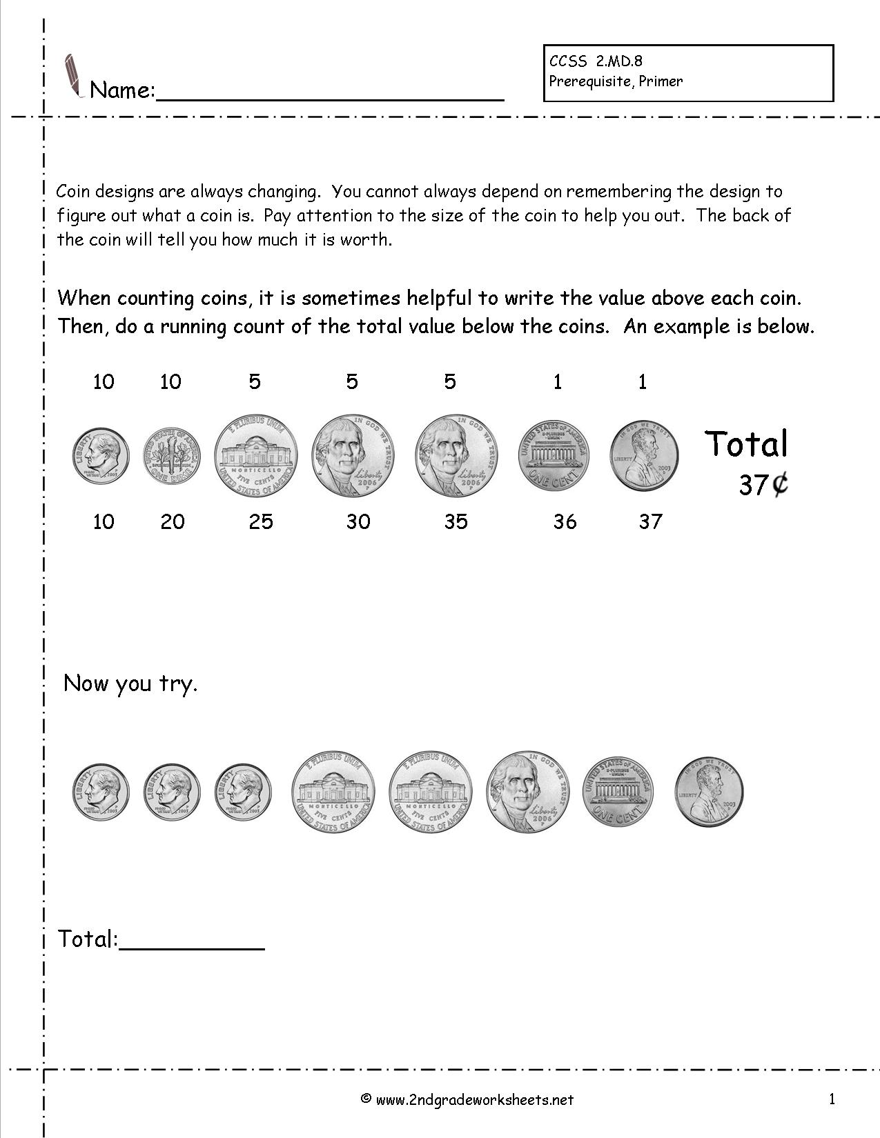 16 Best Images Of Quarter Worksheets Grade 2