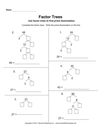 17 Best Images of Prime Factor Tree Worksheets Free ...