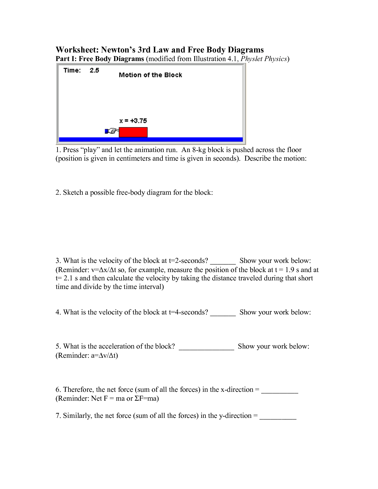 13 Best Images Of Newton S Laws Of Motion Worksheets