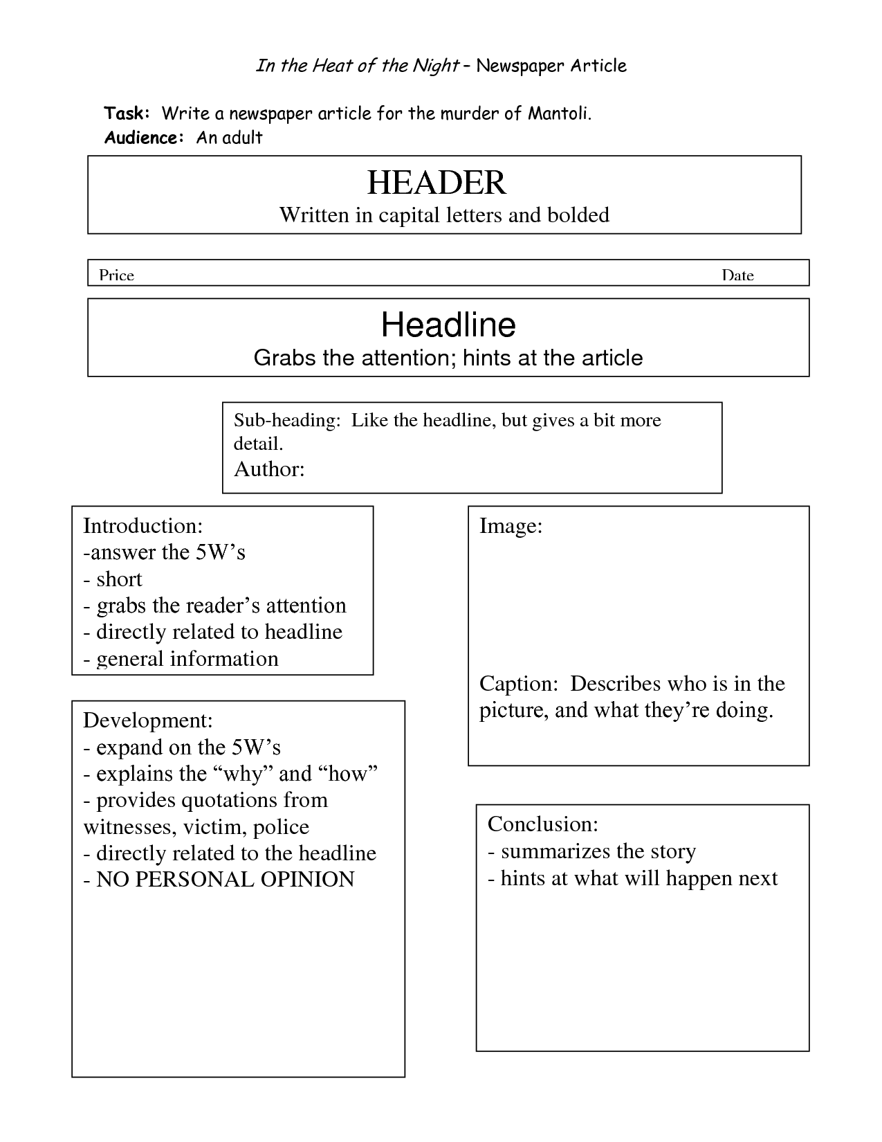 17 Best Images Of Newspaper Report Writing Worksheets