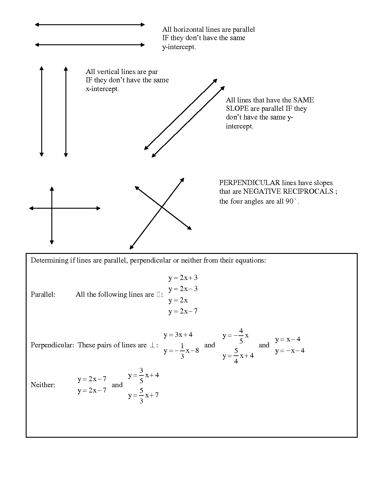 Horizontal Vertical Worksheet