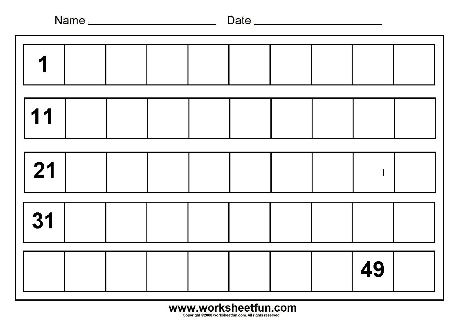 11 Best Images Of Missing Number Worksheets 1 15