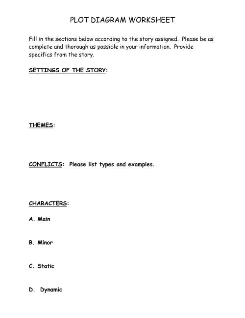 small resolution of printable plot diagram worksheet