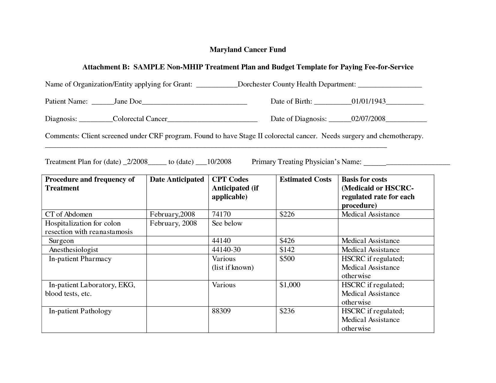 Alcohol Abuse Treatment Plan Worksheet