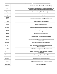 Printable Psychology Worksheets