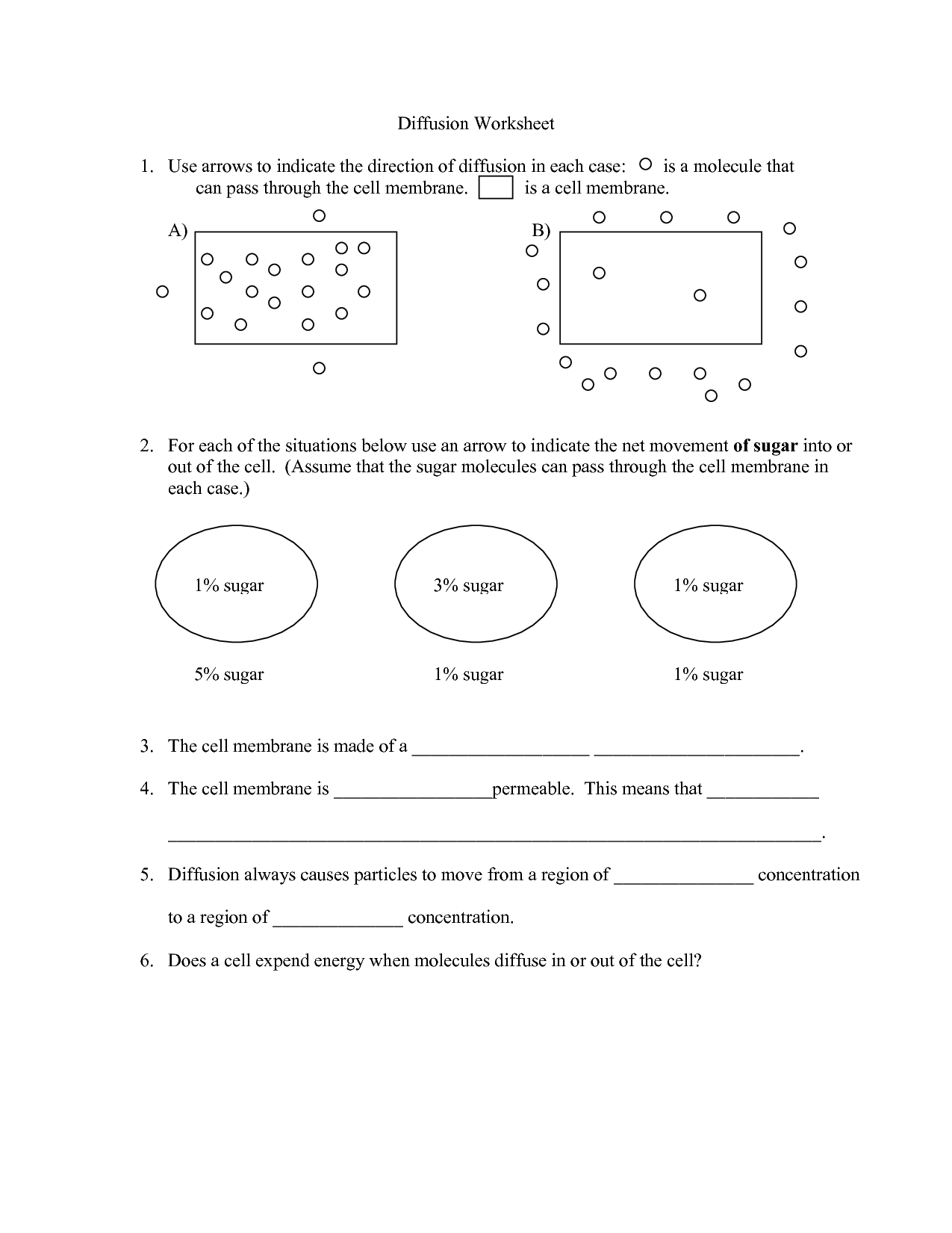 Cell Membrane And Tonicity Worksheet Key
