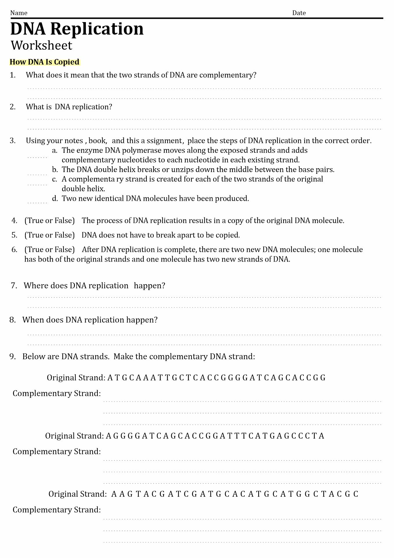 13 Best Images Of Dna Code Worksheet