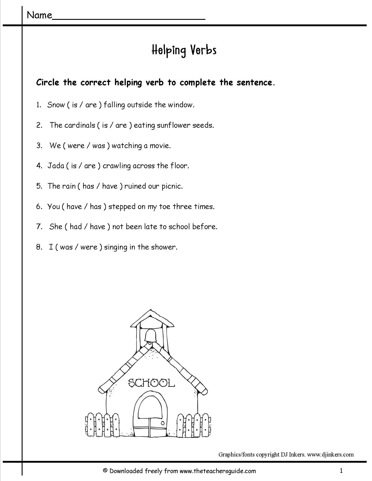 17 Best Images Of Free Verb Worksheets 2nd Grade