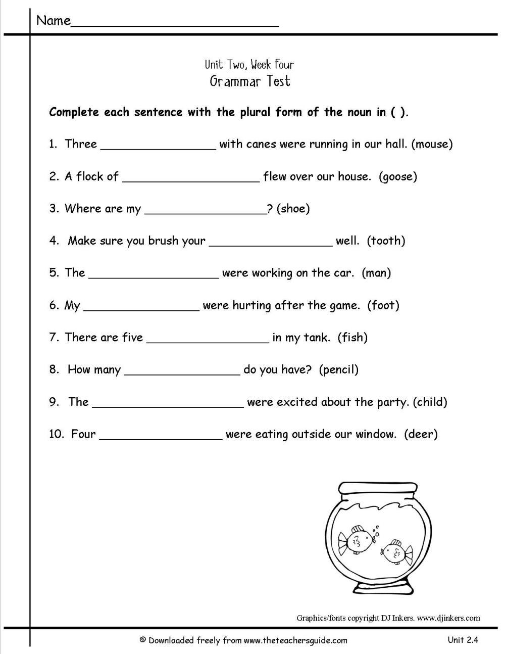 medium resolution of Fall Worksheet Irregular Plural   Printable Worksheets and Activities for  Teachers