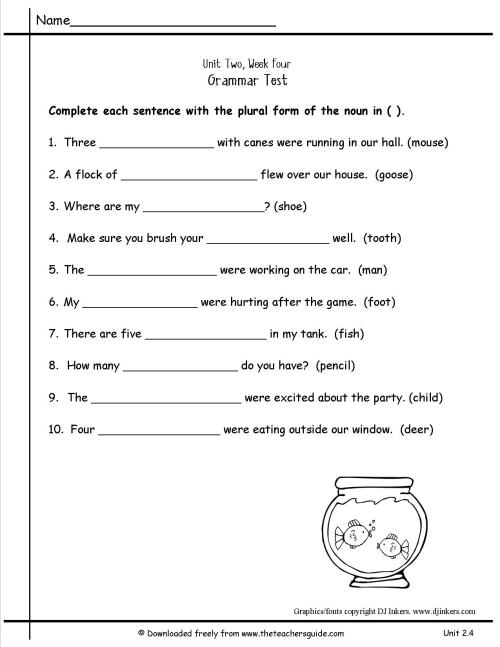 small resolution of Fall Worksheet Irregular Plural   Printable Worksheets and Activities for  Teachers