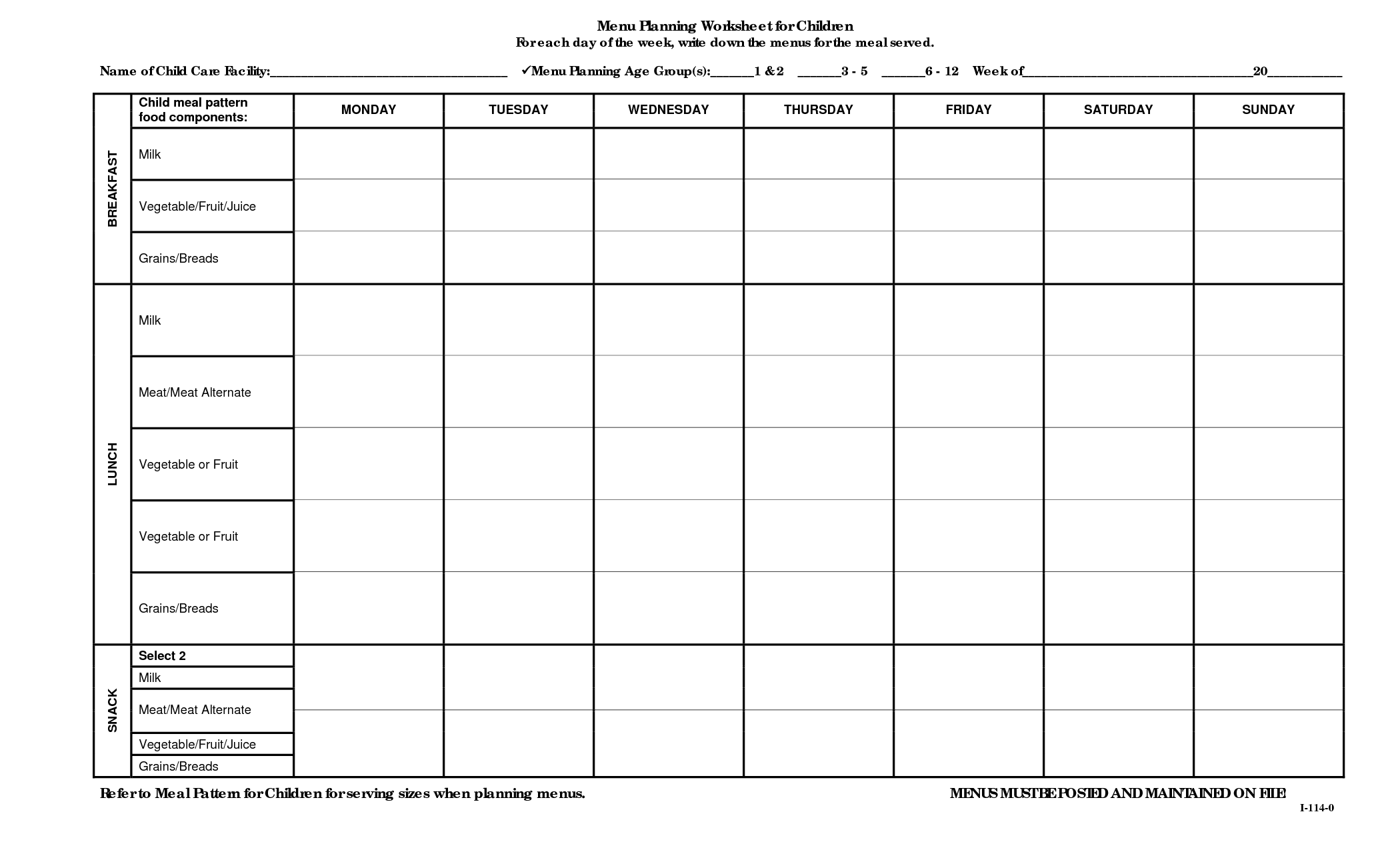 19 Best Images Of Meal Planning Printable Worksheets