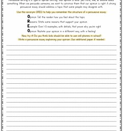 Persuasive Writing 2nd Grade Worksheets   Printable Worksheets and  Activities for Teachers [ 1650 x 1275 Pixel ]
