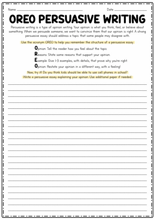 small resolution of Persuasive Writing 2nd Grade Worksheets   Printable Worksheets and  Activities for Teachers