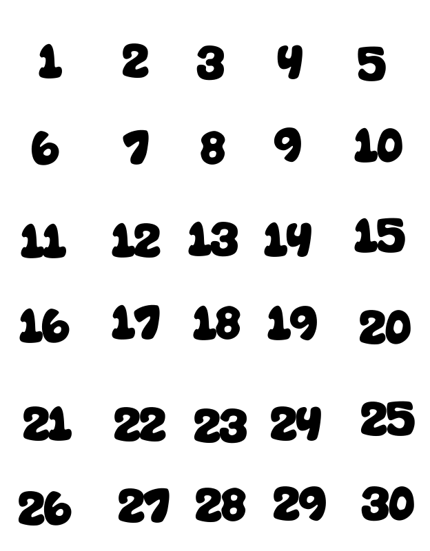 15 Best Images of Kindergarten Worksheets Numbers 1 30