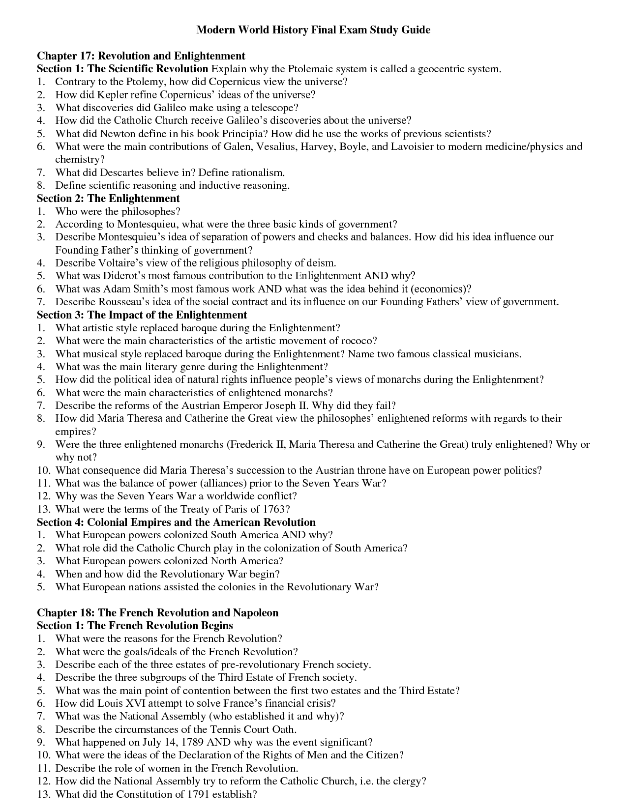 15 Best Images Of World History 9th Grade Worksheets