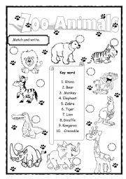 12 Best Images of Printable Zoo Worksheet Kindergarten