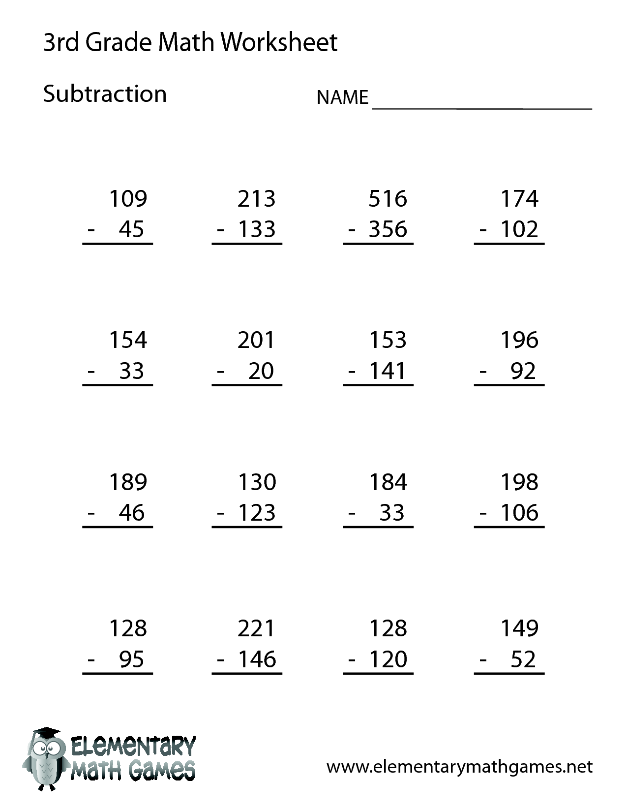 3rd Grade Worksheet Category Page 3