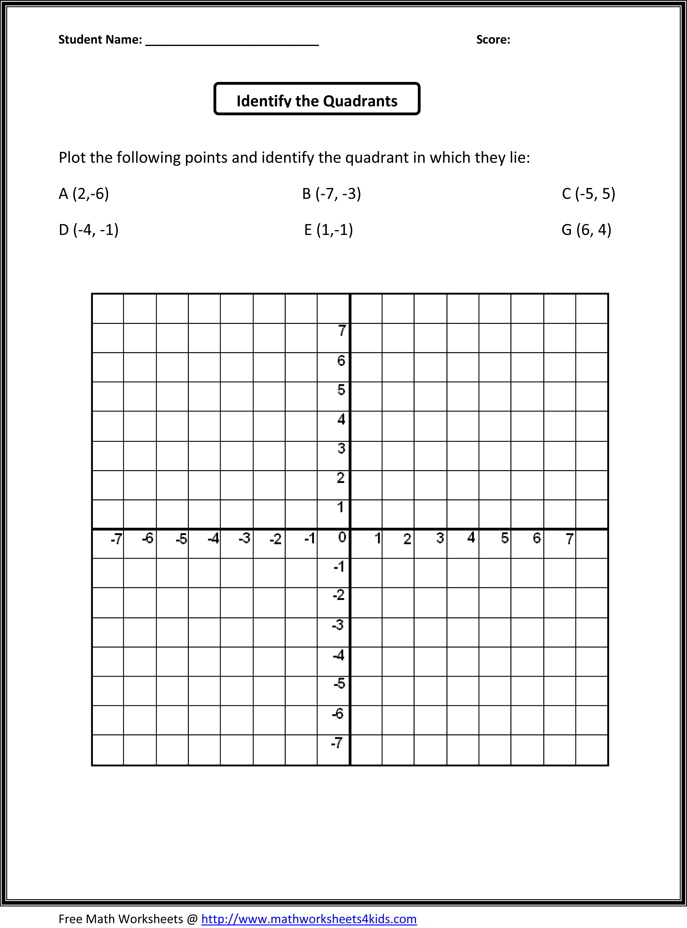 11 Best Images Of Coordinate Grid Worksheets
