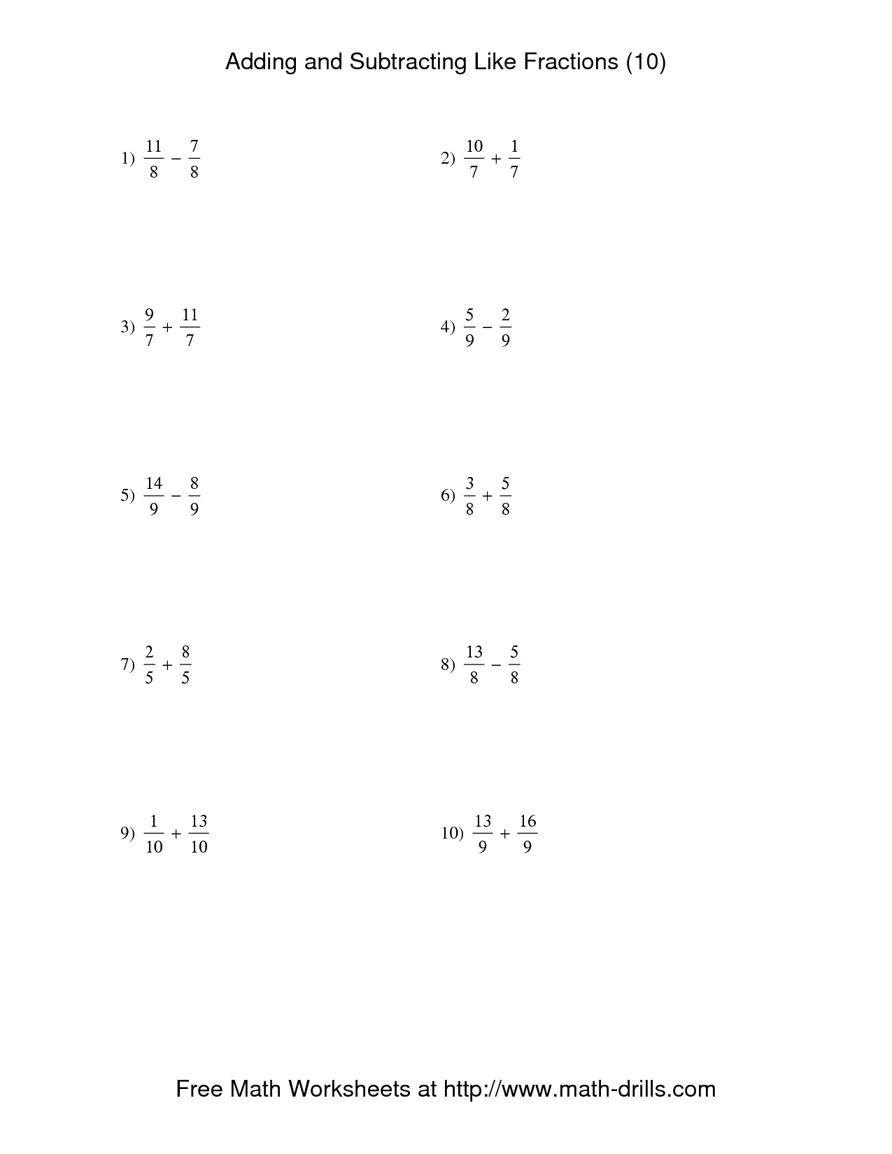 13 Best Images Of Adding And Subtracting Integers