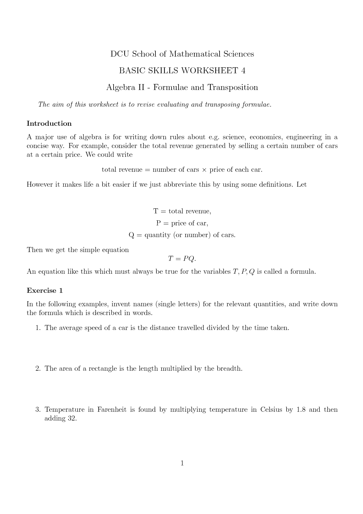 Science Skills Worksheet Math
