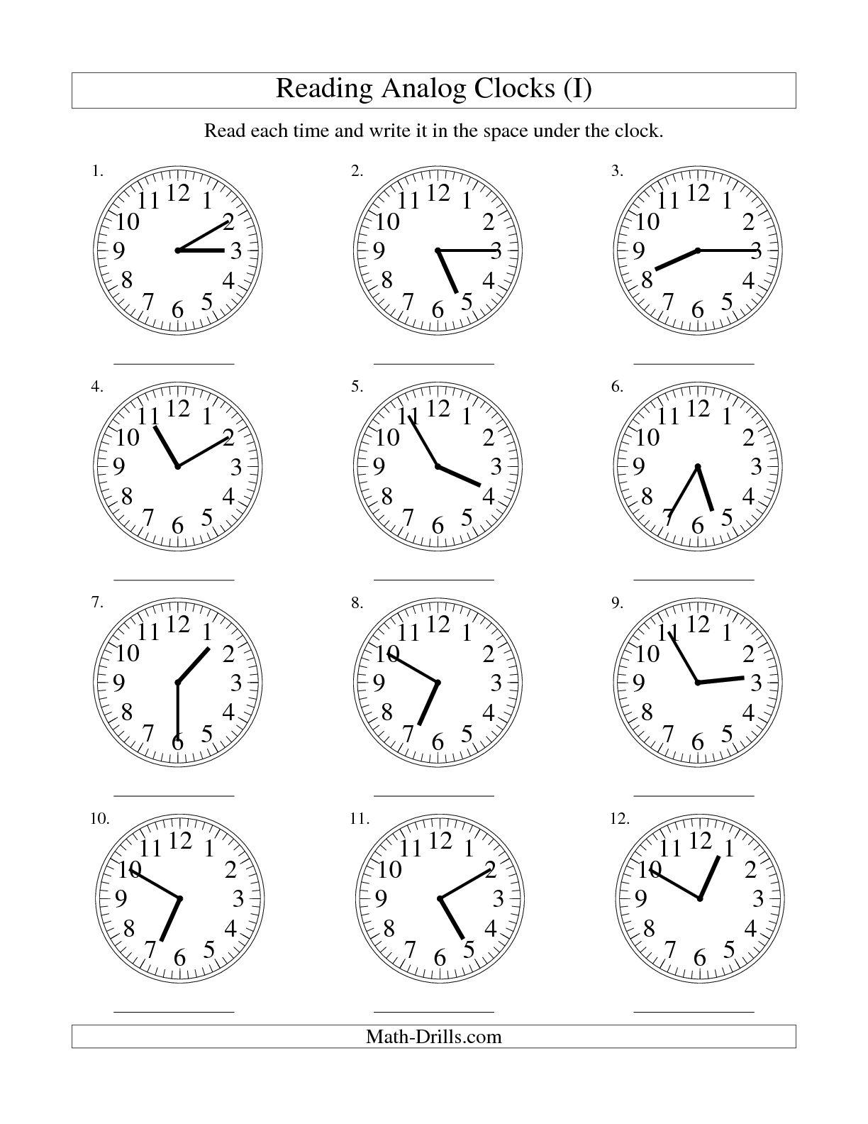 15 Best Images Of 5 Minute Time Intervals Worksheets